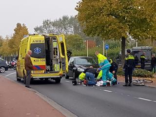 Traumahelikopter rukte uit na ongeval
