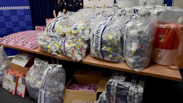 Australië onderschept voor bijna 800 miljoen euro aan drugs