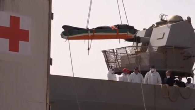 Lichamen verdronken vluchtelingen naar Italië gebracht