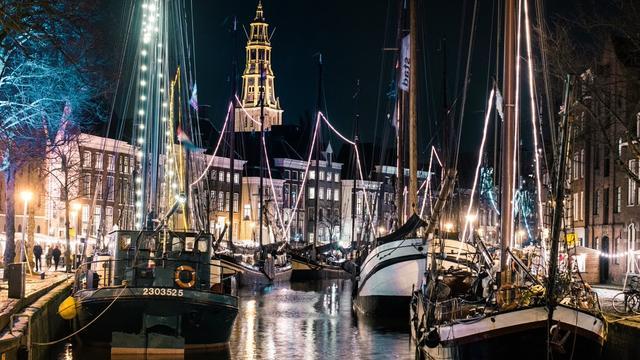 Groningen in de ban van WinterWelVaart, Santa Run en Moving Mesdag