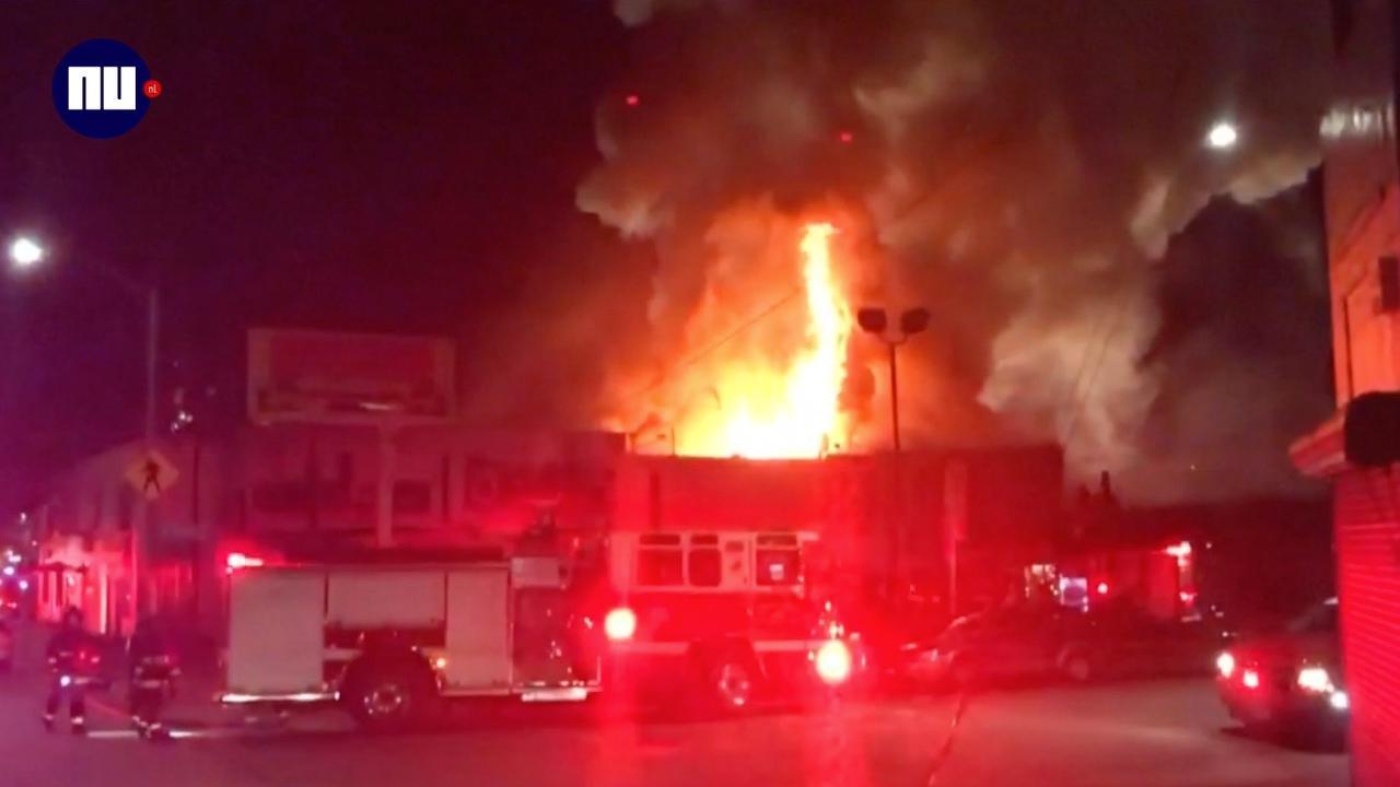Veel doden bij brand in Oakland