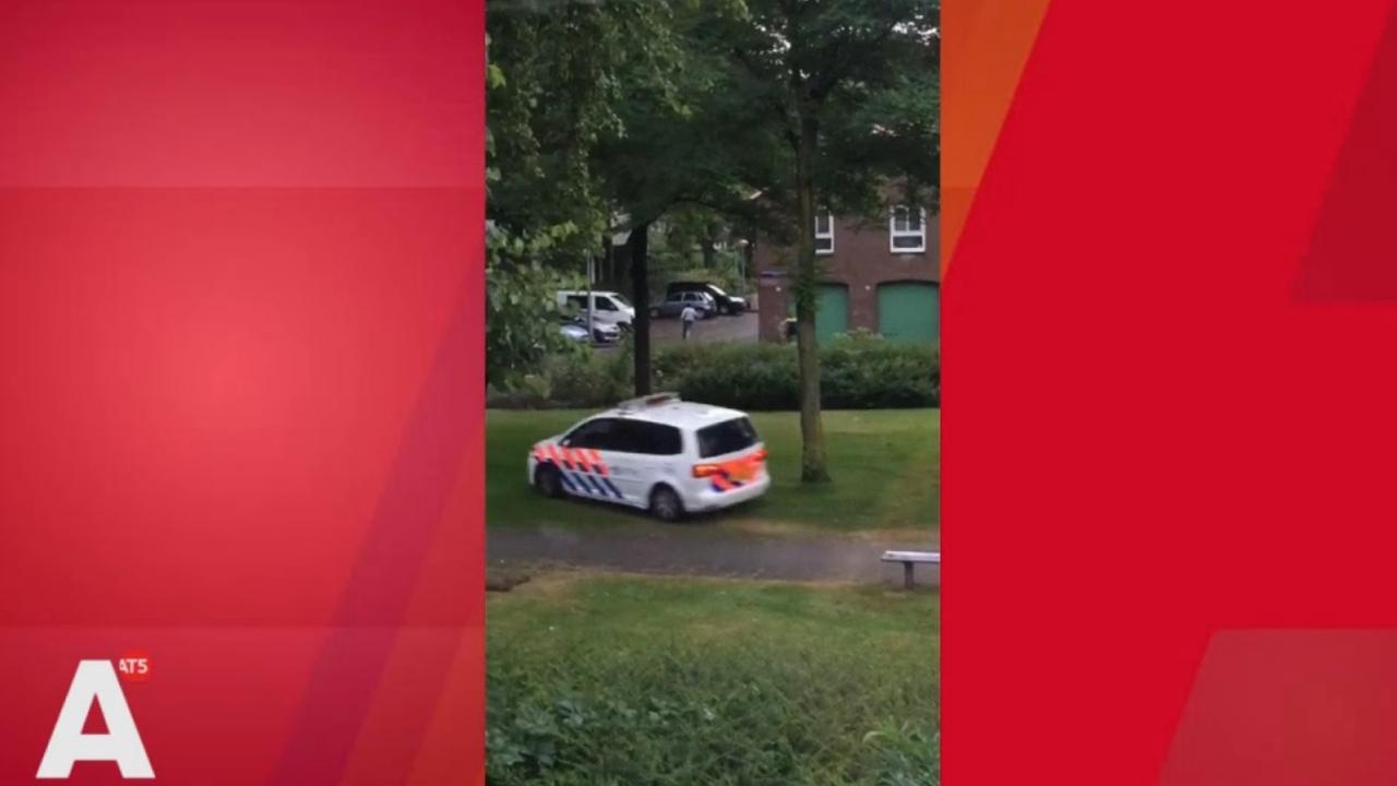 Politie rent achter inbreker aan