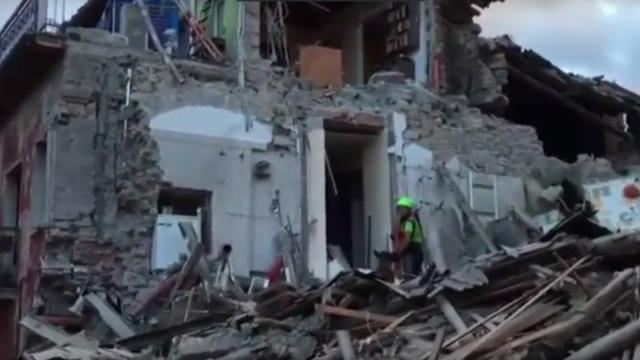 Grote ravage na krachtige aardbeving Italië