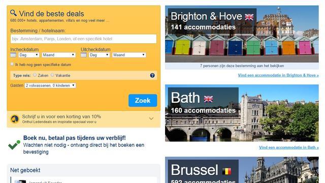 Meer aanbod in hotelboekingssites na tik op vingers ACM