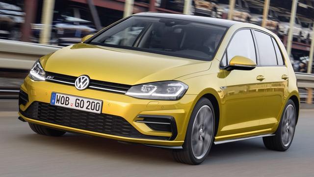 De gefacelifte Volkswagen Golf