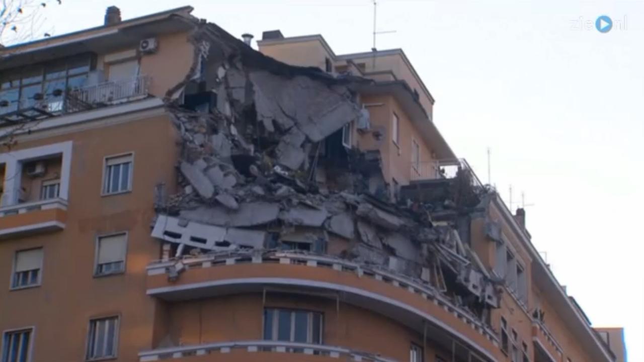 Gedeelte van appartementencomplex in Rome stort in