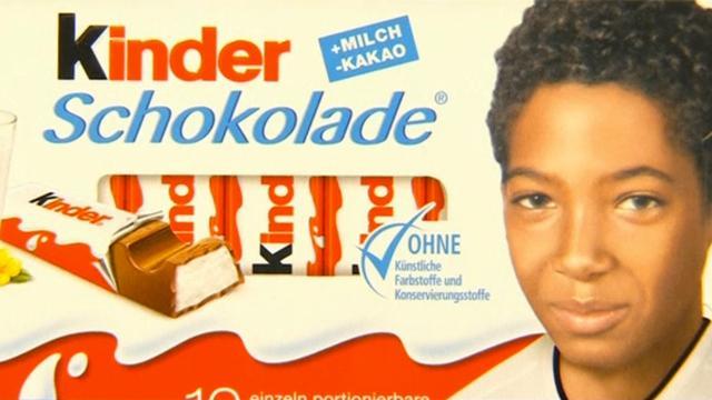 Pegida-aanhangers verbaasd over donkere voetballers op verpakking Kinder choclade