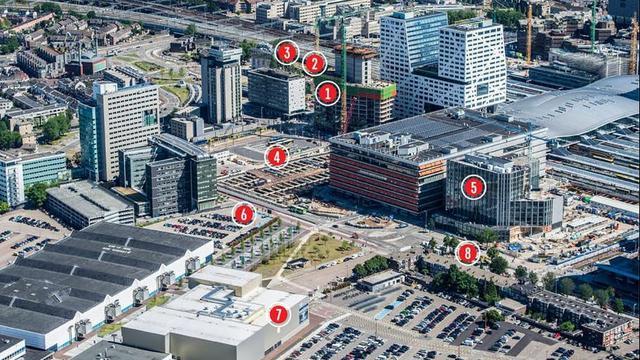 Overzicht: Veranderingen aan de Jaarbeurszijde bij station Utrecht Centraal