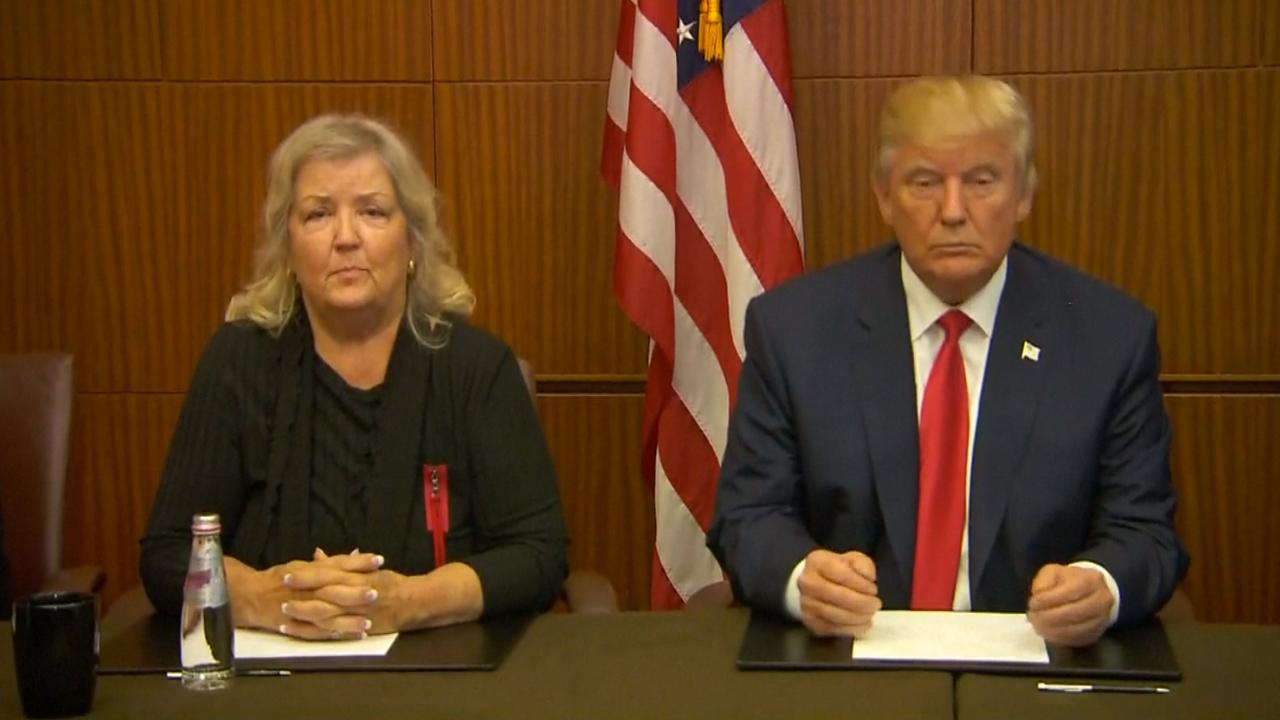 Trump houdt persconferentie met vermeende slachtoffers Bill Clinton