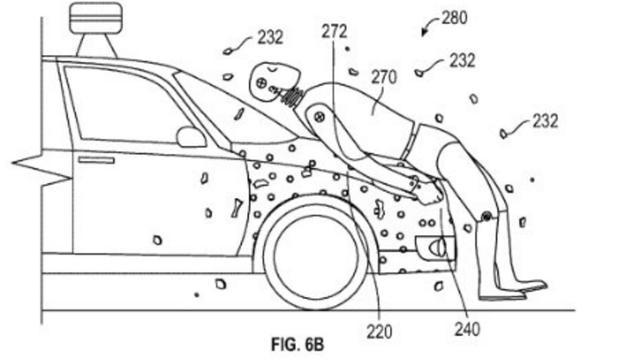 Google patenteert 'plaklaag' op auto voor botsing met voetgangers