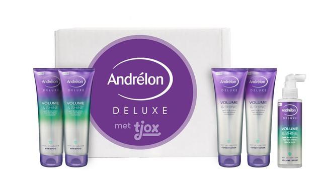 Andrélon Deluxe Volume & Shine tjox box voor 14,95 euro