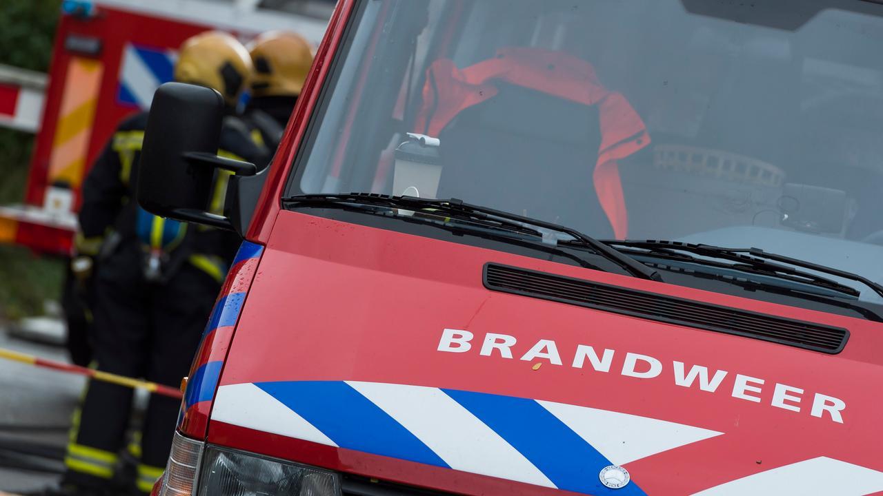 Brand dakterras in Amsterdam