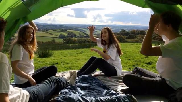 Slakachtige tent heeft groot panoramadak