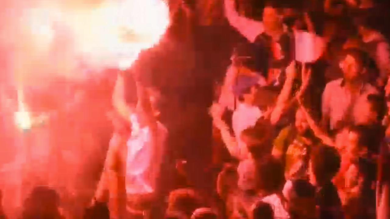 Franse fans vieren overwinning op Duitsland