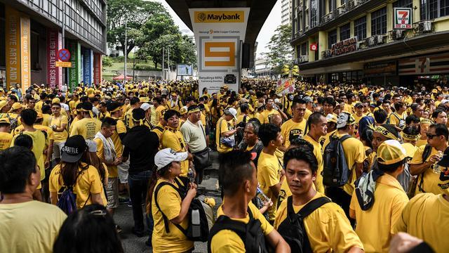 Massaal protest tegen Maleisische premier Najib Razak
