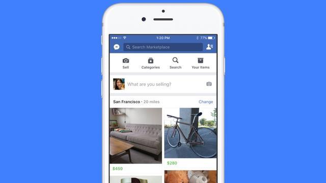 Facebook krijgt marktplaatsfunctie voor tweedehands spullen