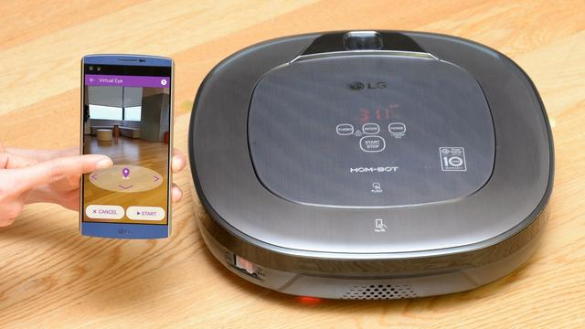 Robotstofzuiger LG uitgerust met augmented reality