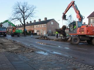 Straat krijgt nieuwe riolering, verharding en lantaarnpalen