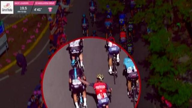 Nibali-helper Moreno uit Giro gezet na handgemeen