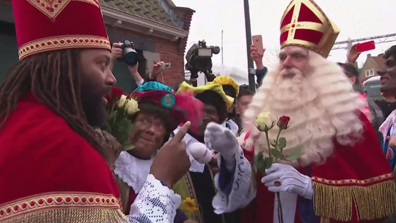 'Nieuwe Sint' ontmoet Sinterklaas