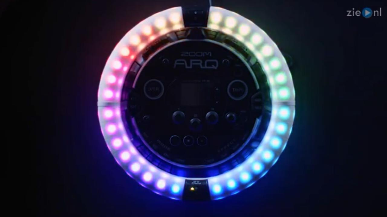 Bluetooth-controller geeft draai aan tamboerijn