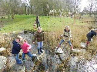 De kinderen mogen mede bepalen wat er op het natuureiland gaat komen
