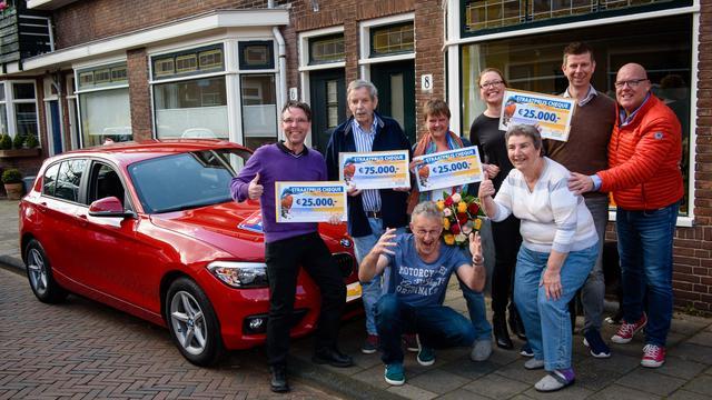 Straatprijs Postcode Loterij valt in Leiden