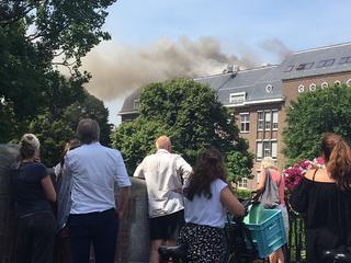 Brand ontstond door werkzaamheden aan dak