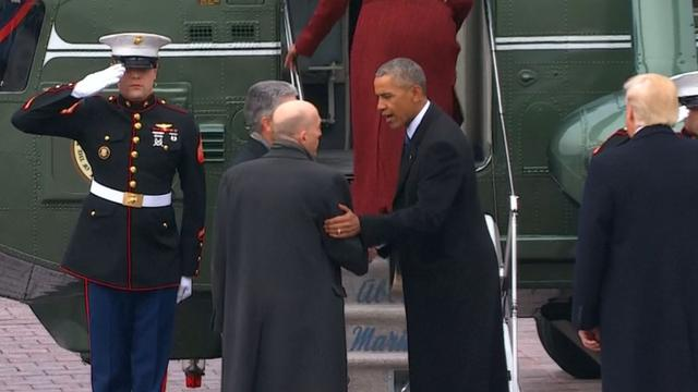 Obama en Biden verlaten Washington na inauguratie Trump