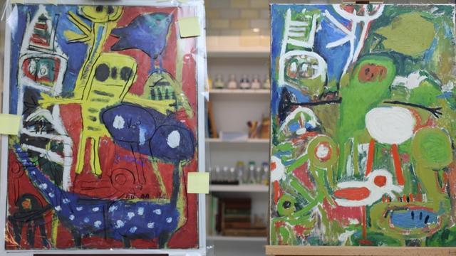 Werk onder schilderij Karel Appel ontdekt