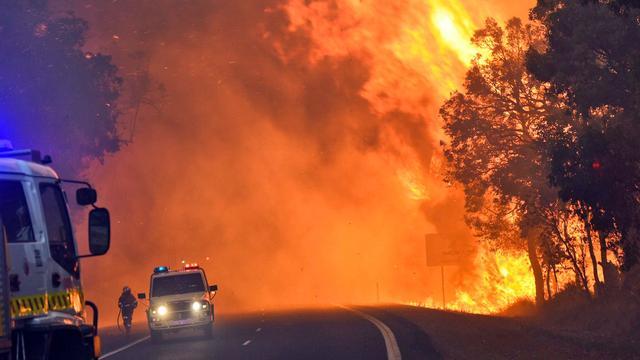 Enorme bosbranden in Australië eisen levens