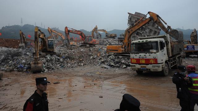 China zoekt nog naar overlevenden in Shenzen