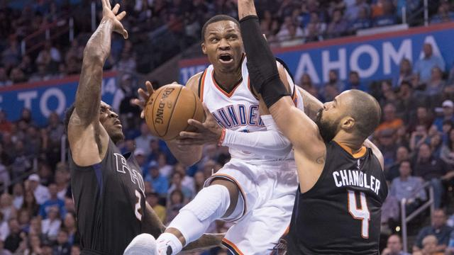 Westbrook met 'triple-double' in voetsporen NBA-legende Abdul-Jabbar