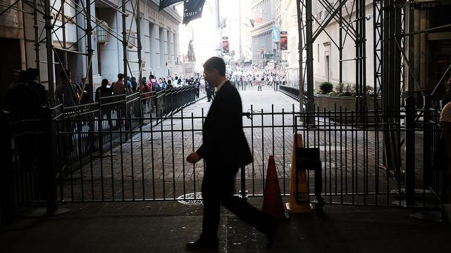Banken sluiten lager op Wall Street