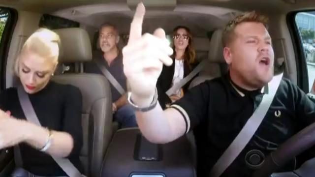 Gwen Stefani, George Clooney én Julia Roberts in Carpool Karaoke
