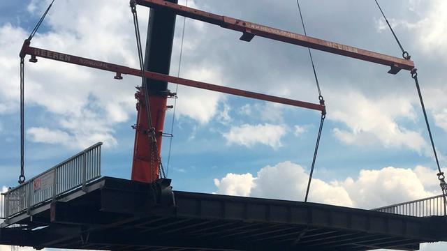 Terugplaatsing van Vlietbrug paar weken uitgesteld