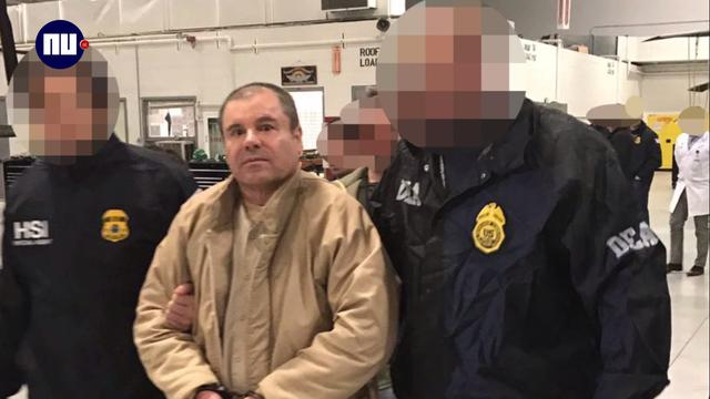 Drugsbaas 'El Chapo' onder zware beveiliging uitgeleverd aan VS