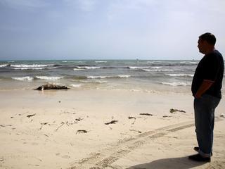 Stoffelijke resten werden gevonden op strand 60 kilometer ten westen van de hoofdstad Tripoli
