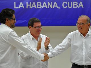 Verdrag tussen guerrillabeweging en regering wordt eind september ondertekend