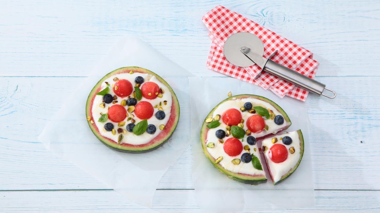 Kinderfavoriet: vrolijke meloen-fruitpizza's