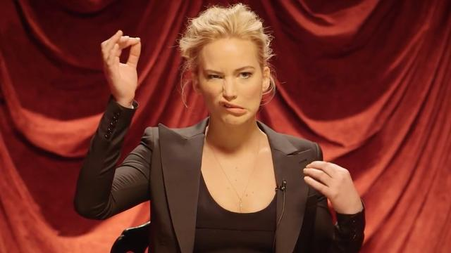 Jennifer Lawrence toont verborgen talent