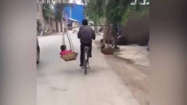 Chinees vervoert kinderen op bijzondere manier