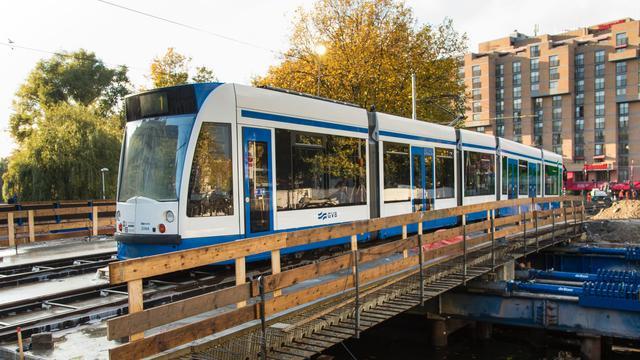 Trams kunnen weer over Leidseplein