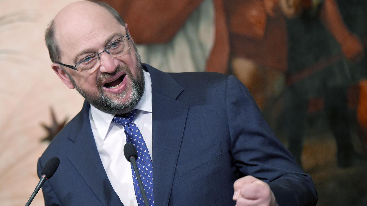Cameron spreekt met Schulz in het Europees Parlement