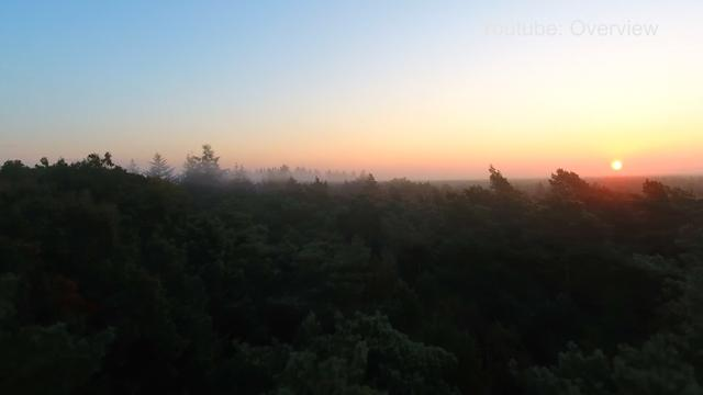 Drone filmt mist boven Zeist