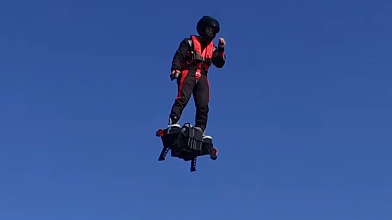Flyboard toont prototype van echt zwevend hoverboard