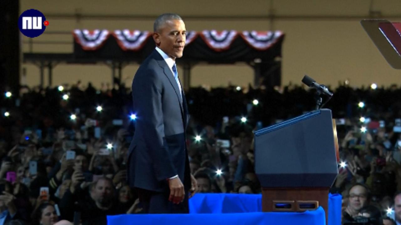 De opvallendste momenten uit Obama's afscheidsspeech