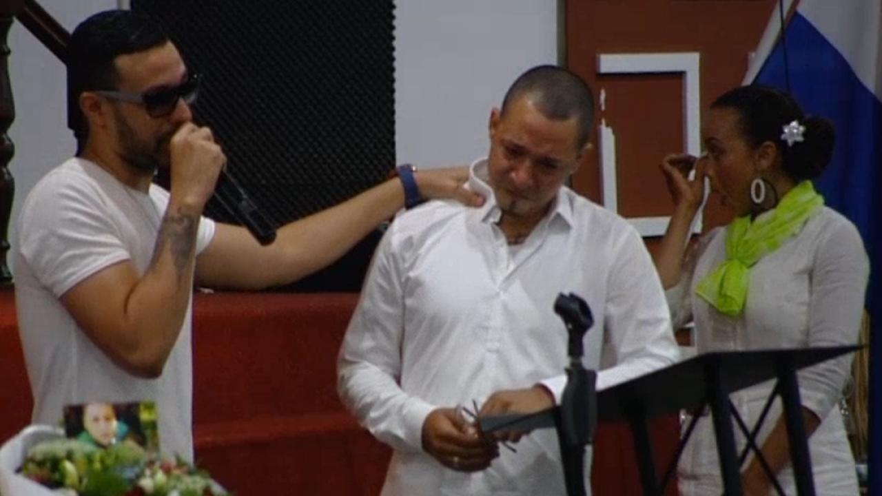 Familieleden en vrienden nemen afscheid van Anderson Muñoz Marquinez