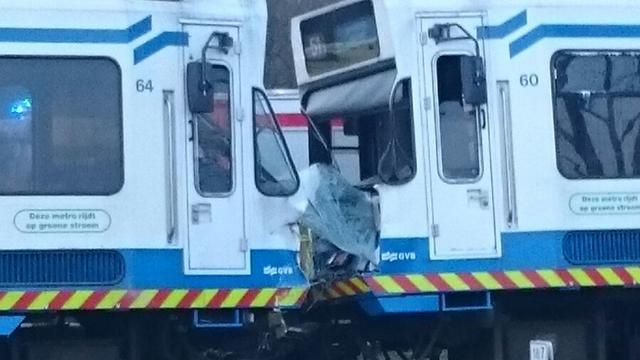 Metro's op elkaar gebotst in Amstelveen