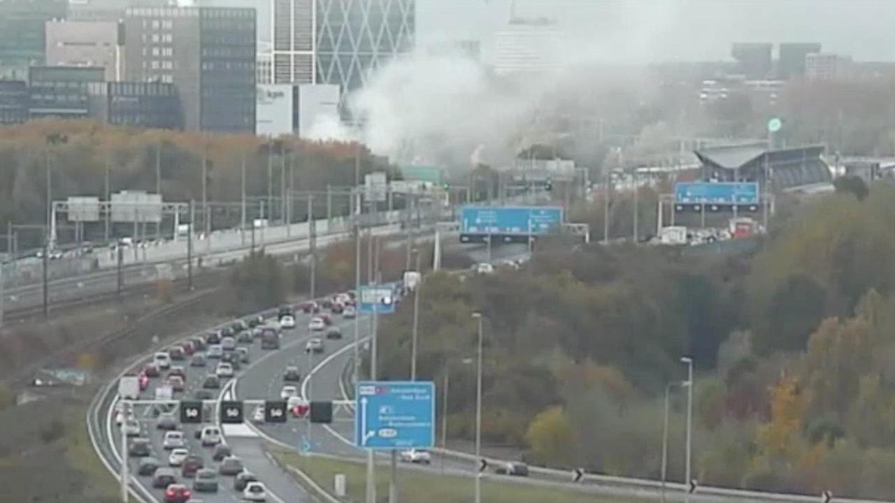 File door brand op Zuidas Amsterdam